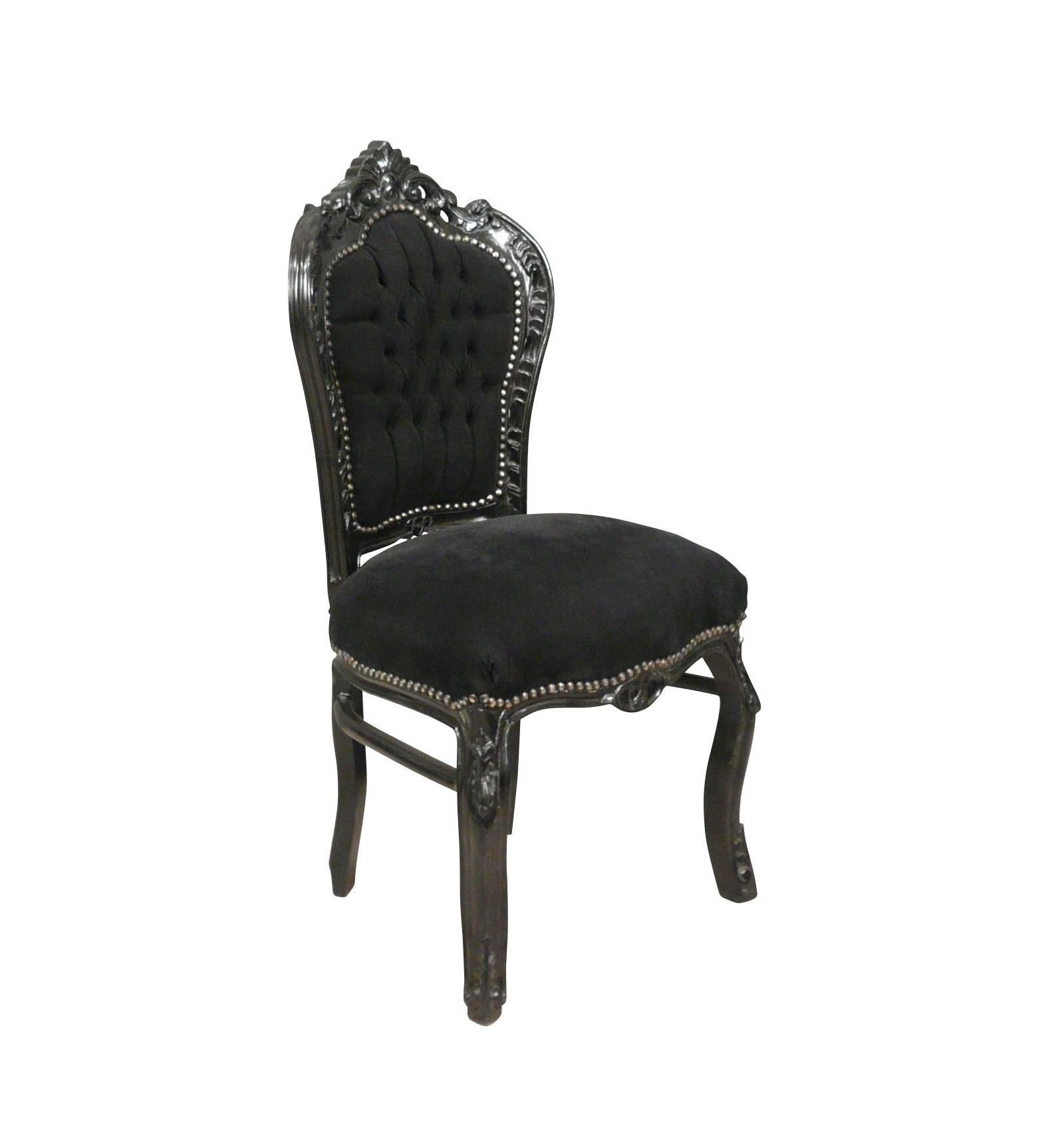 Chaise baroque noire pas ch re mobilier baroque - Chaise noire pas cher ...