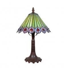 Tiffany påfågel lampa