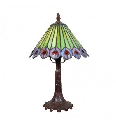 Tiffany bordlampe lampe Peacock