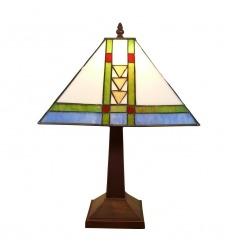 lampe tiffany en forme de colonne avec une libellule. Black Bedroom Furniture Sets. Home Design Ideas