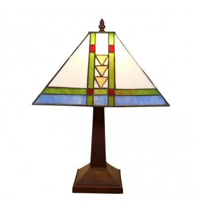 Lámpara estilo Tiffany de la misión.