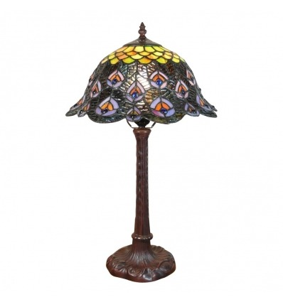 Tiffany peacock lamp