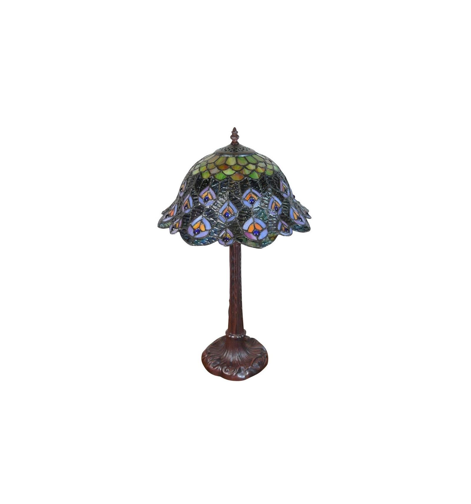 Lampada tiffany il pavone illuminazione e mobili art deco for Mobili tiffany