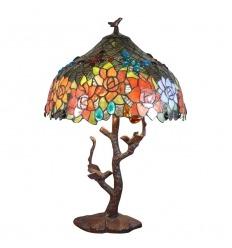 Lámpara de pájaro tiffany