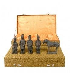 Set di 5 statuette - Guerrieri di Xian 10 cm