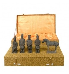 Set of 5 statuettes - Warriors of Xian 10 cm