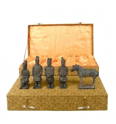 Set of 5 statuettes - Xian Warriors 10 cm - terracotta statues -