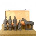 Set de 5 statuettes - Guerriers de Xian 20 cm