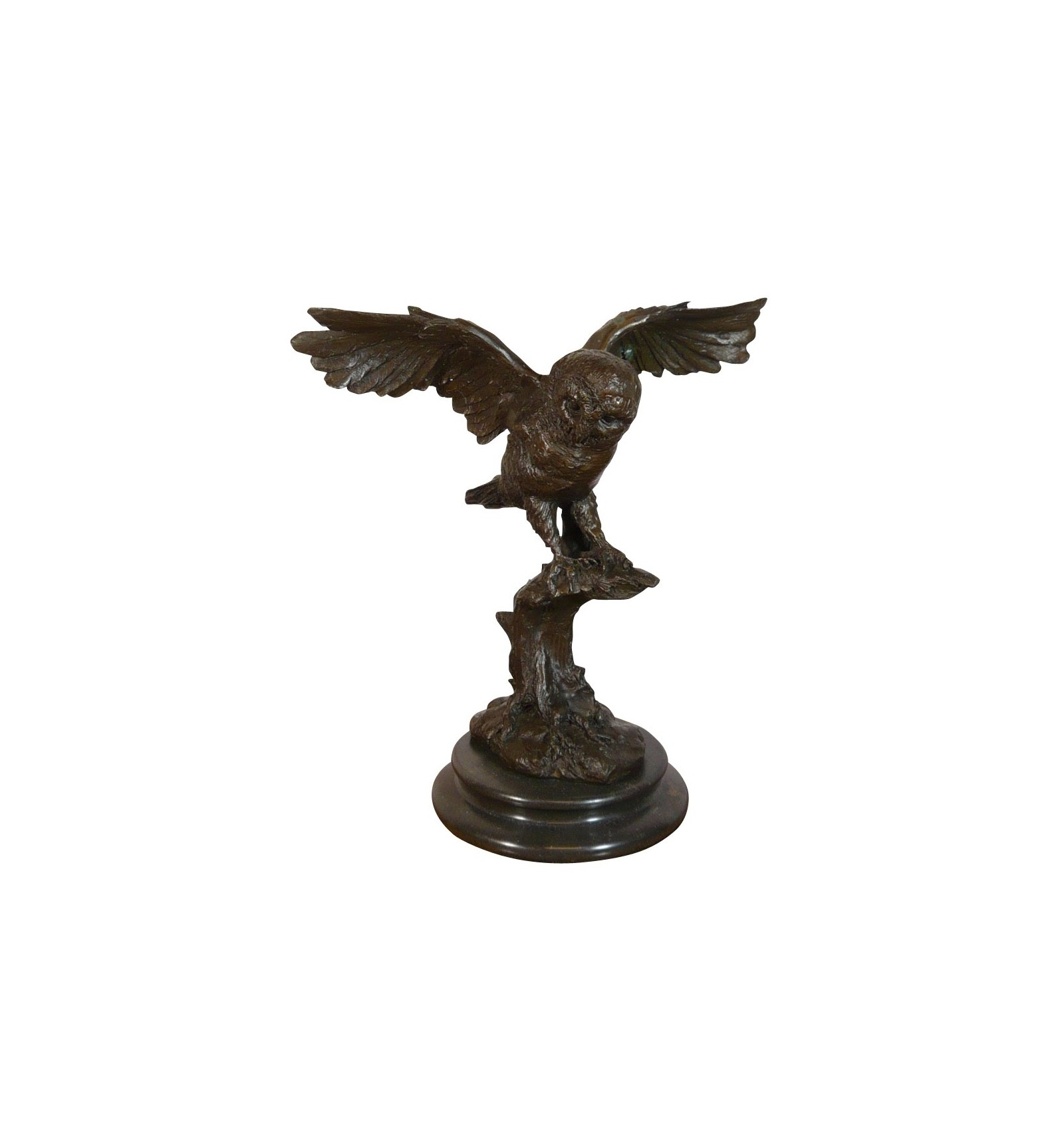 Statue en bronze d 39 une chouette sculptures et meubles for Statue deco salon
