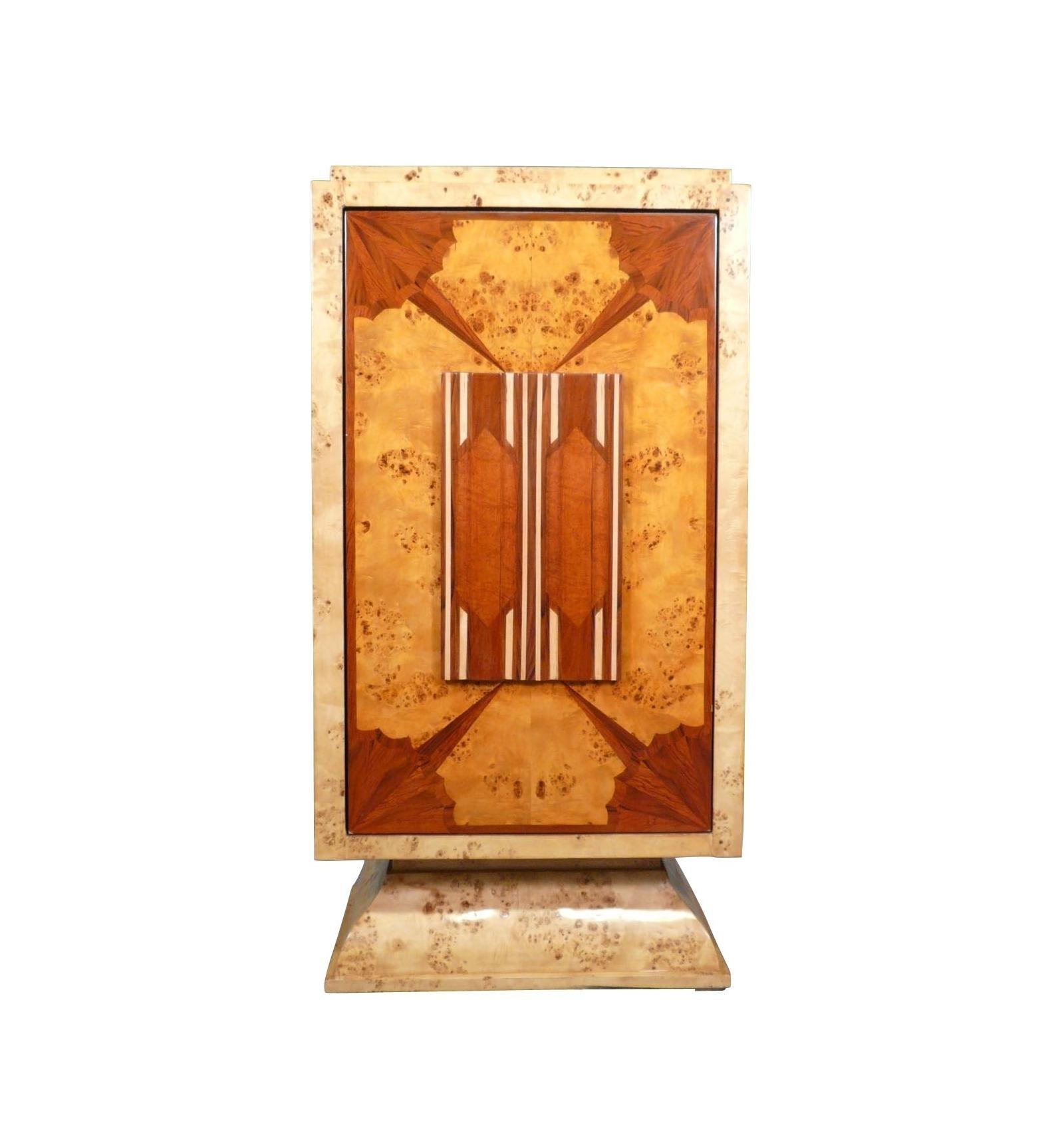 art deco mit schwenkbaren t r bar art deco m bel. Black Bedroom Furniture Sets. Home Design Ideas