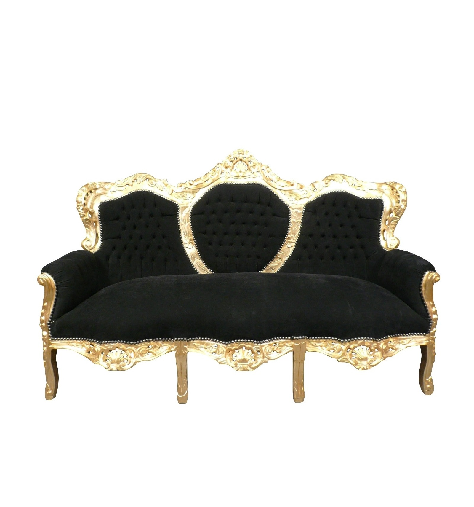 Sofa Baroque Black And Gold Furniture Baroque