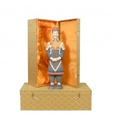 Generale - soldato cinese Xian in terracotta Statuette cotte