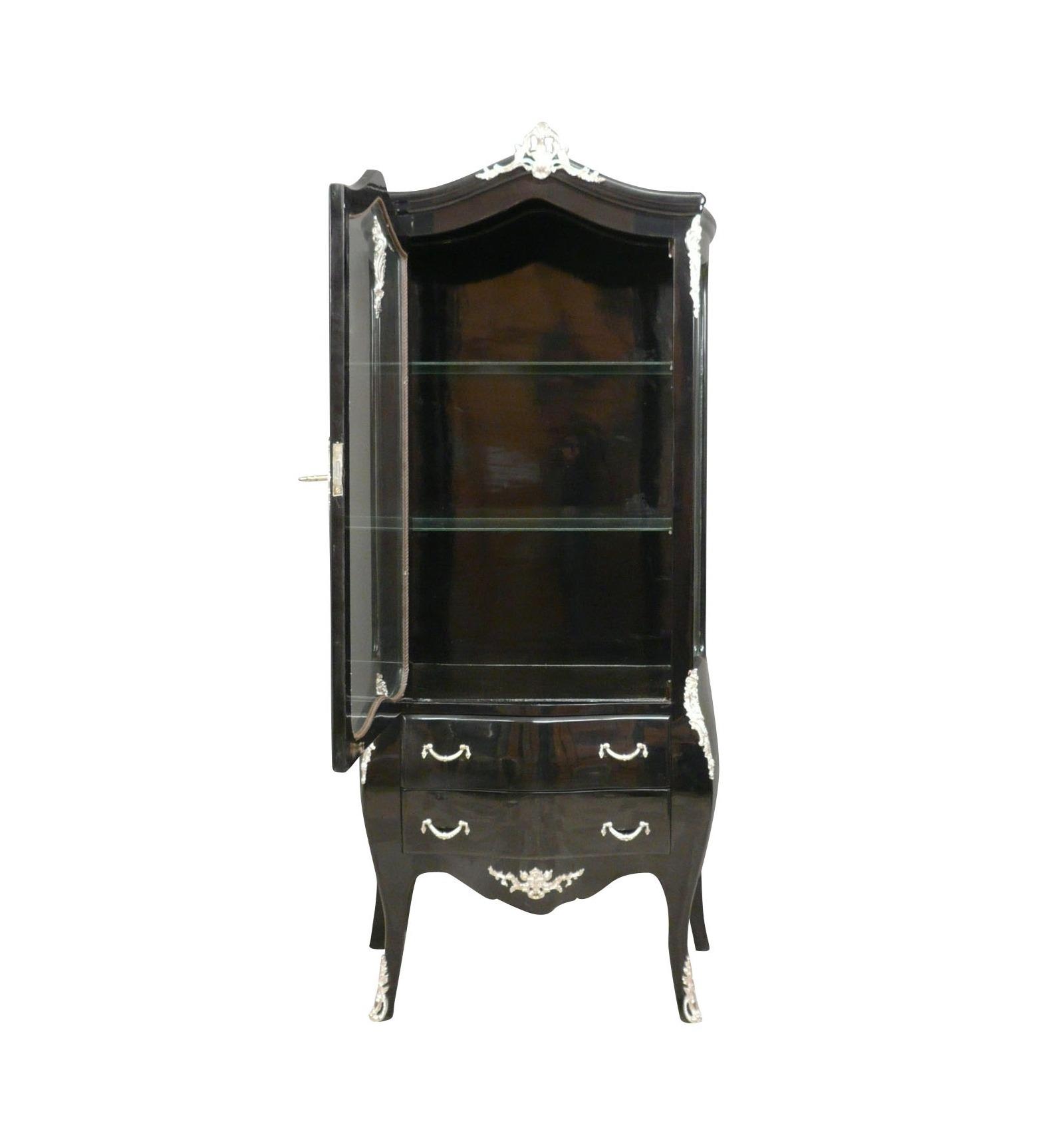 Vitrine baroque noire fauteuils et meubles noirs for Meuble chaise