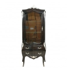 Fekete barokk vitrin