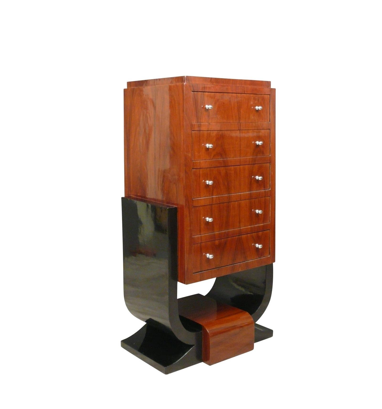 kommode art deco rosenholz art deco m bel. Black Bedroom Furniture Sets. Home Design Ideas