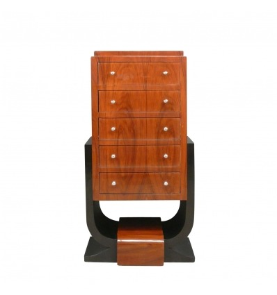 Rosewood art deco commode - 1930s art and decoration cabinet -