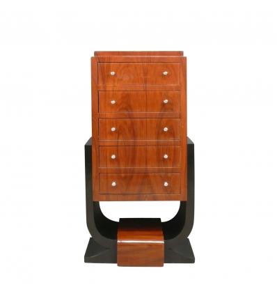 Comodo art deco in legno di palissandro - Mobili e opere d'arte in stile 1930 -