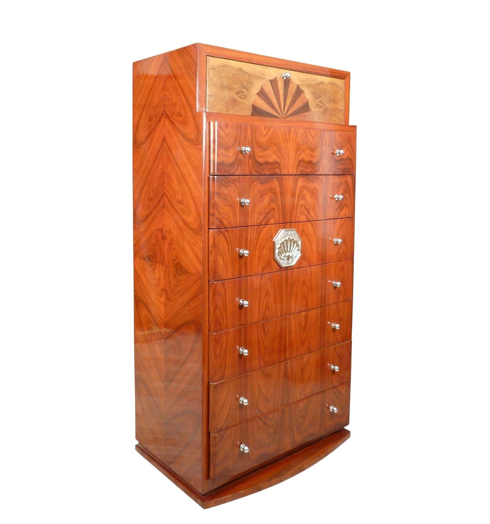 semainier art d co commode et mobilier de d coration en bois. Black Bedroom Furniture Sets. Home Design Ideas