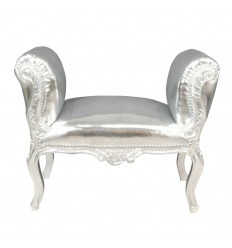 Baroque silver bench