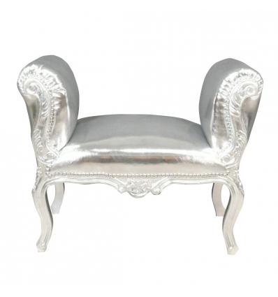 Zilver barok stoel