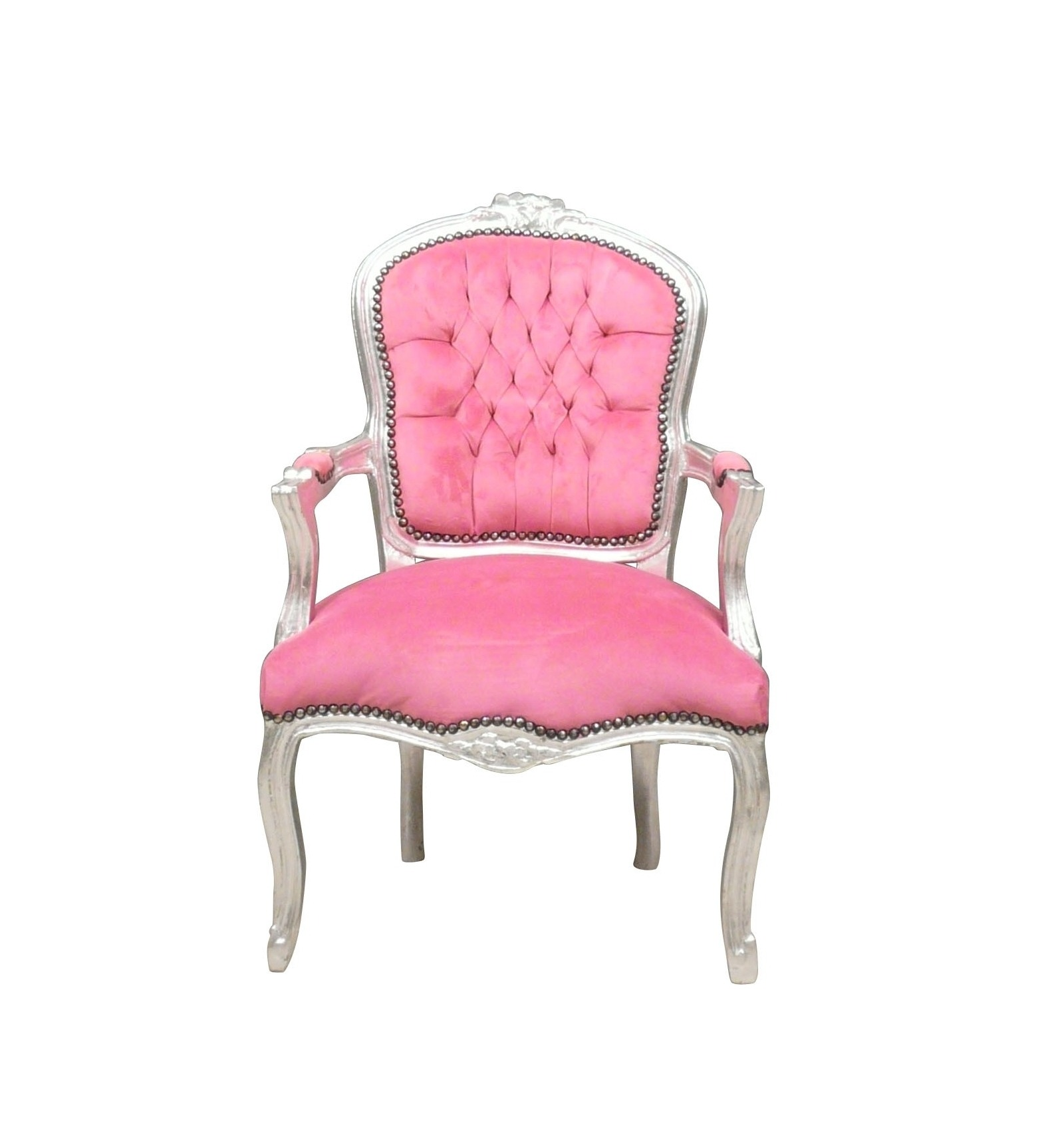 Louis Xv Armchair And Pink Wood Silver Furniture Louis Xv