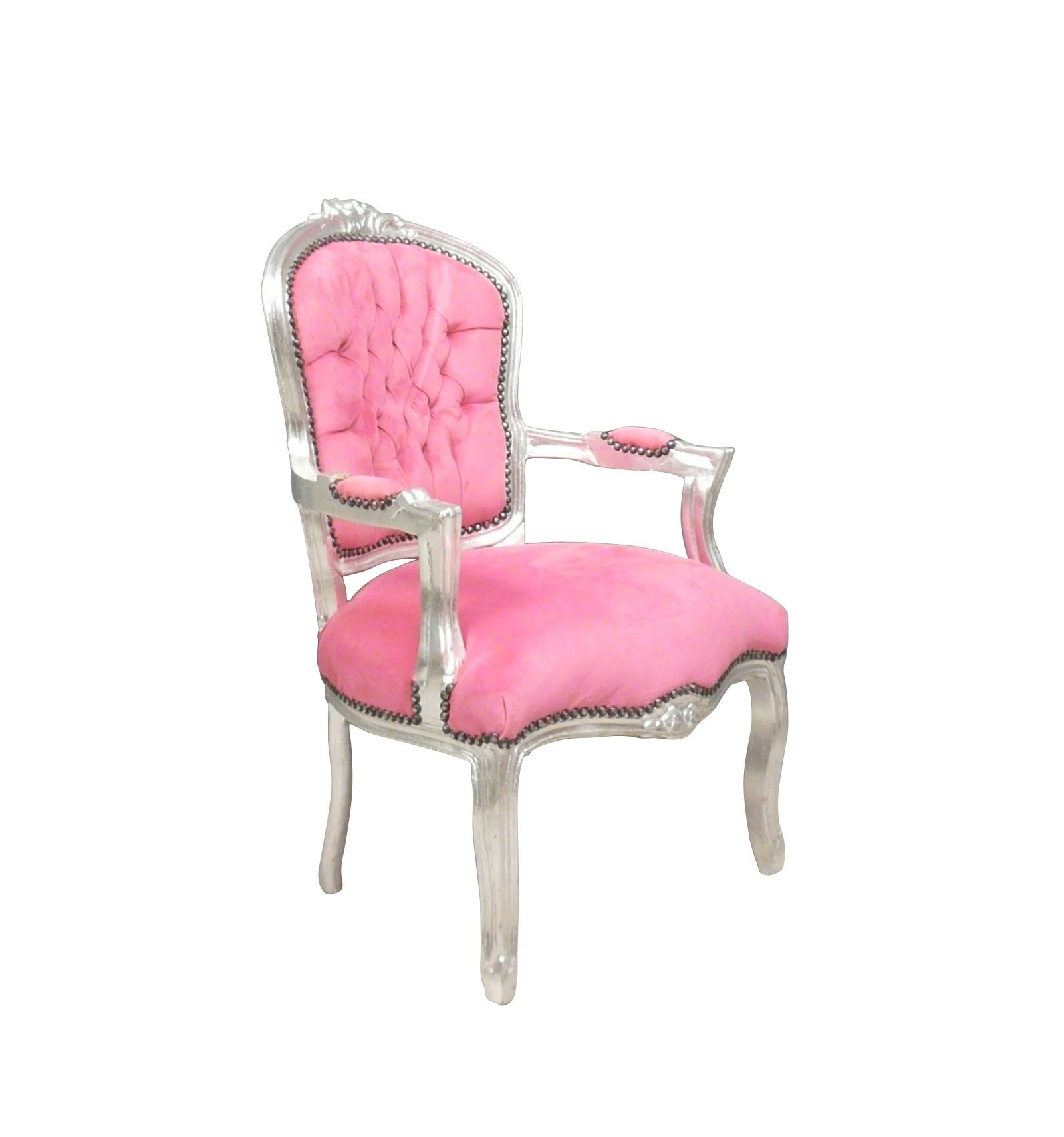 Sessel barock louis xv rosa for Samt sessel rosa
