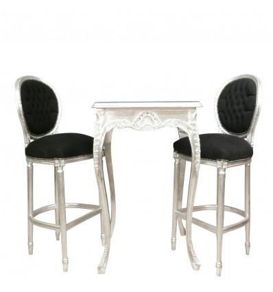Baroque silver bar table