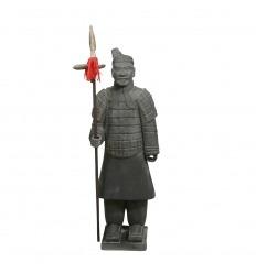 Estatua guerrera de la infantería china 100 cm.