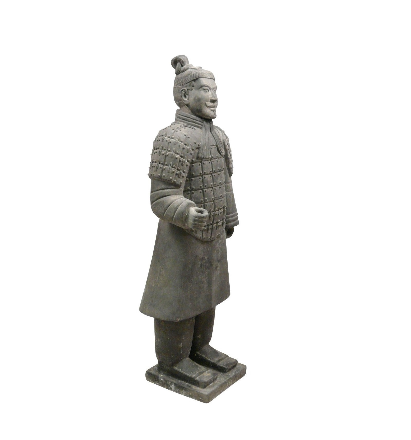 statue guerrier chinois fantassin 100 cm en terre cuite. Black Bedroom Furniture Sets. Home Design Ideas