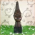Statue en bronze d'un buste de femme