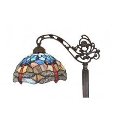 Lámpara de pie Tiffany con libélulas.