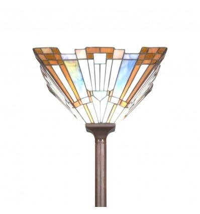Lámpara de pie Tiffany art deco de Nueva York, lámpara y arte modernista -