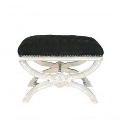 Barocke Sitz schwarz und Silber