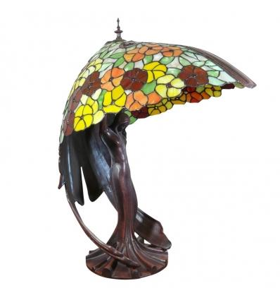 Lamp flying lady tiffany replica of the original lamp for Objet deco original