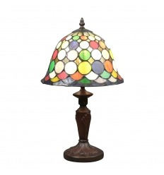 Lámpara Tiffany Harlequin - H: 43 cm