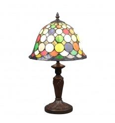 Lampe Tiffany Arlequin - H: 43 cm
