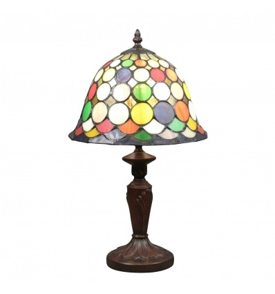 Tiffany Harlequin Lamp - H: 43 cm