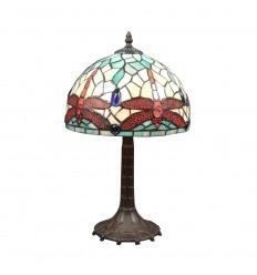 Lampada Tiffany dragonfly in stile art nouveau