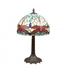 Lámpara Tiffany de la libélula de estilo art nouveau