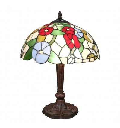 Lampe Tiffany oiseau - H: 50 cm