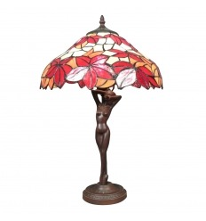 Tiffany lamp woman