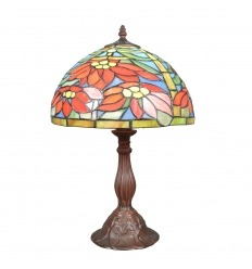 Lámpara de Tiffany con flores de Pascua.