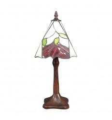 Lámpara de Tiffany con decoración floral.