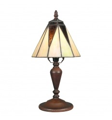 Lámpara Tiffany art deco en los vitrales-blanca la madre-de-perla