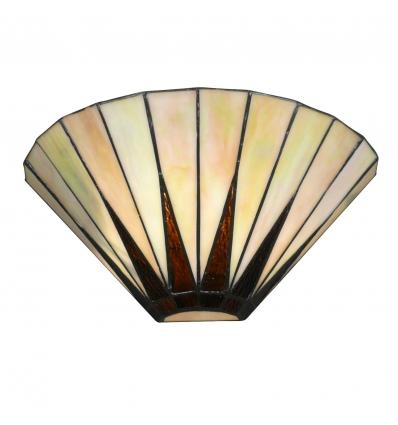 Aplique Tiffany art deco con vidrieras blancas de nacar - Lámpara de pared Tiffany