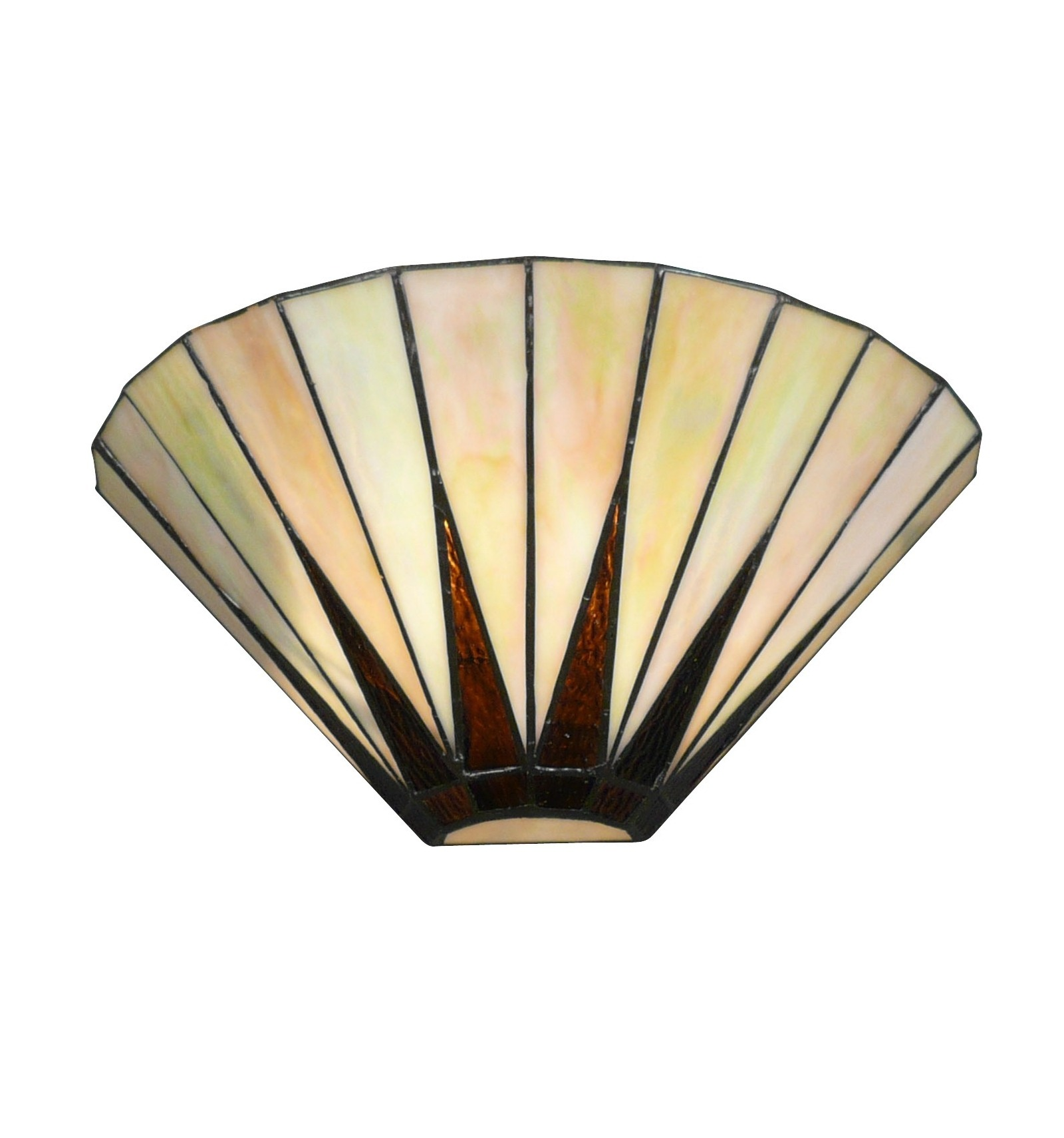 Apply Tiffany art-deco white mother-of - wall Lamp