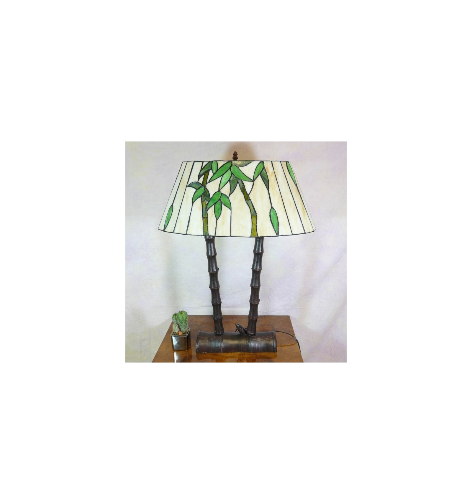 Lamp tiffany bamboo fixture and furniture art deco for Tiffany bamboo floor lamp