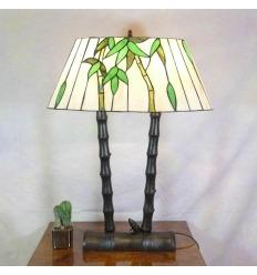 Lampa Tiffany bambu