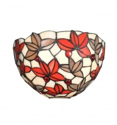 Tiffany wall lamp floral decoration on white background