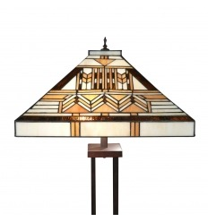 Stehlampe Tiffany-Art-Deco-Serie Boston